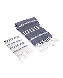 Bodrum / Datca Turkish Bath and Hand Towel 2 Piece Set