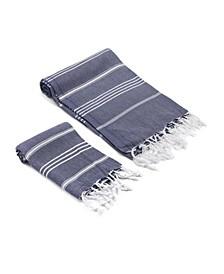 Bodrum Turkish Bath and Hand Towel 2 Piece Set