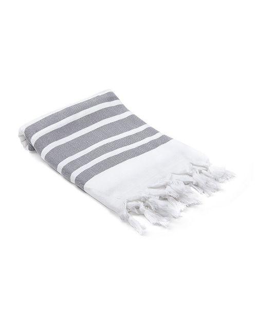 Olive and Linen Herringbone Turkish Hand/Kitchen Towel