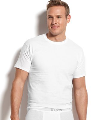 Hanes Platinum Men's Underwear,5 Pack Crew Neck Undershirts ...