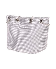 Crystal Mesh Bucket Handbag