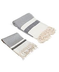 Pixel Turkish Bath and Hand Towel 2 Piece Set