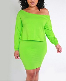 Over the Shoulder Top and Bodycon Mini Skirt Set by The Workshop at Macy's
