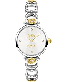 Women's Park Stainless Steel Tea Rose Bracelet Watch 26mm