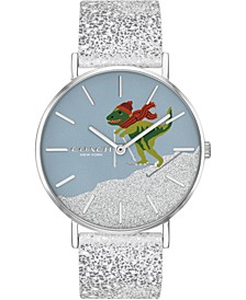 Women's Rexy Silver White Glitter Perry Strap Watch 36mm