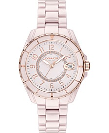 Women's Preston Pink Ceramic Bracelet Watch 32mm