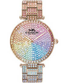 Women's Park Rainbow Pavé Bracelet Watch 34mm