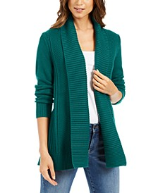 Shawl-Collar Open-Front Cardigan, Created For Macy's