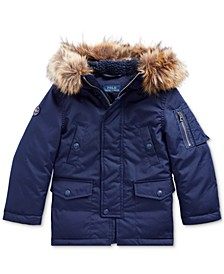 Little Boys Faux Fur–Trim Down Parka