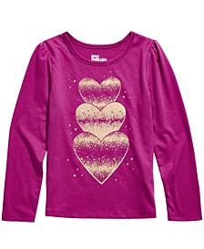 Little Girls Glitter Hearts T-Shirt, Created For Macy's