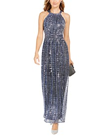 INC Sparkle Halter Dress, Created For Macy's