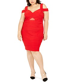 Trendy Plus Size Cold-Shoulder Bandage Dress