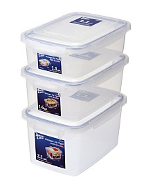 Large Sealed Food Storage Container, Set of 3