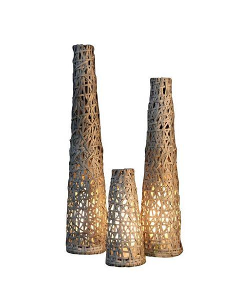 My Zen Home Pataya Rattan Outdoor Floor Lamp - Medium