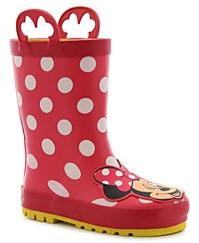 Little Kid's and Big Kid's Minnie Mouse Rain Boot
