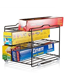 Wrap and Foil-Pantry Kitchen Rack Cabinet Organizer