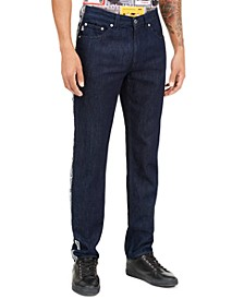 Men's Logo-Tape Jeans