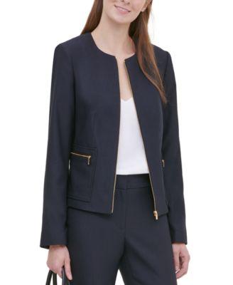 Twill Zipper-Front Jacket