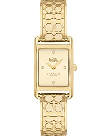 Women's Allie Gold-Tone Bangle Bracelet Watch 19x22mm