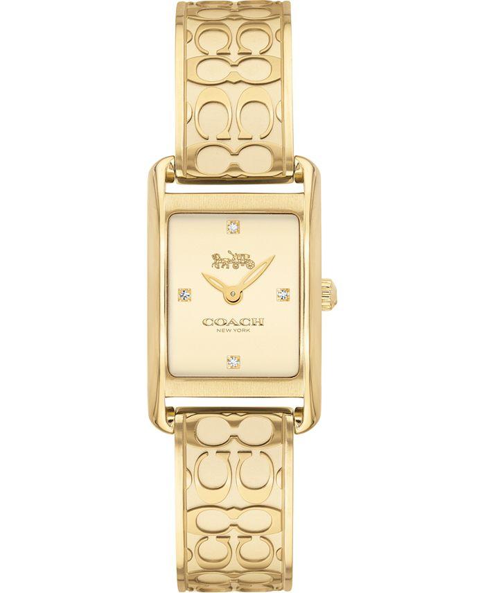 COACH - Women's Allie Gold-Tone Bangle Bracelet Watch 19x22mm