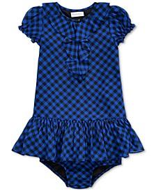 Baby Girls Checked Dress & Bloomer