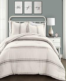 Farmhouse Stripe Reversible 3-Piece Full/Queen Comforter Set