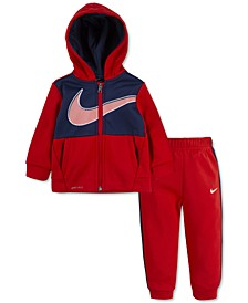 Baby Boys 2-Pc. Colorblocked Therma Fleece Zip Hoodie & Pants Set