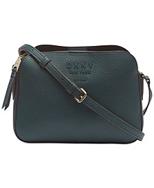 Noho Center Zip Leather Crossbody, Created For Macy's