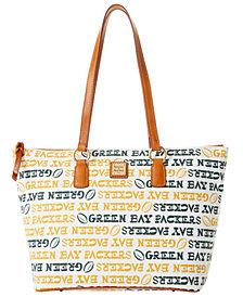 Dooney & Bourke Green Bay Packers Doodle Wren Zip Tote