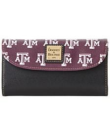 Texas A&M Aggies Saffiano Continental Clutch