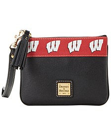 Wisconsin Badgers Saffiano Stadium Zip Wristlet