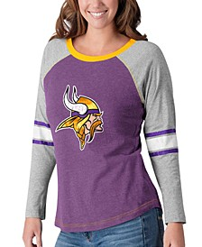 Women's Minnesota Vikings Long Sleeve Top Pick T-Shirt