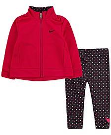 Baby Girls 2-Pc. Zip-Up Jacket & Printed Leggings Set