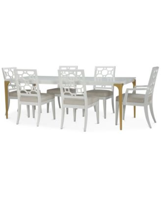 Chelsea Expandable Dining Furniture, 7-Pc. Set (Table, 4 Side Chairs & 2 Arm Chairs)