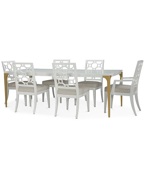 Furniture Chelsea Expandable Dining Furniture, 7-Pc. Set (Table, 4 Side Chairs & 2 Arm Chairs)