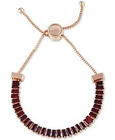 Baguette-Crystal Slider Bracelet