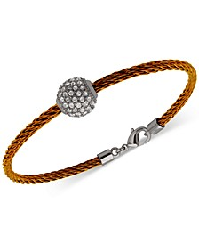 Two-Tone Pavé Fireball Cable Bangle Bracelet