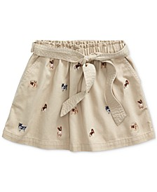 Toddler Girls Dog Cotton Twill Skirt