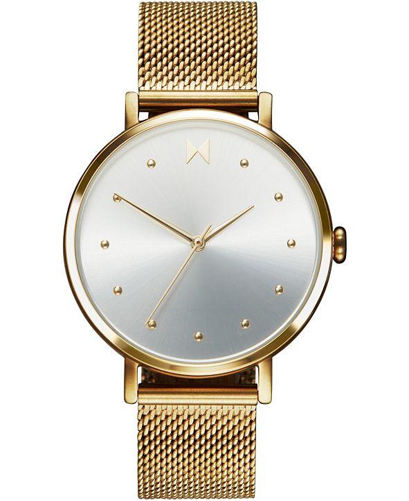 MVMT Women's Dot Flash Gold Ion-Plated Steel Mesh Bracelet Watch 36mm