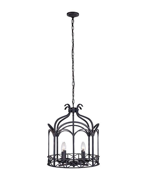 CWI Lighting CLOSEOUT! Sequoia 4 Light Chandelier