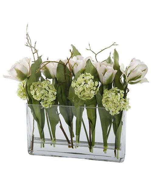 Winward Silks Permanent Botanicals Tulip in Glass