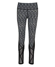 Mesh-Trimmed Leggings