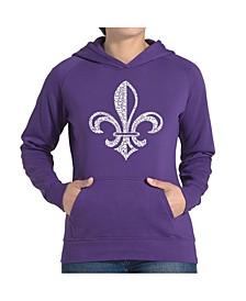 Women's Word Art Hooded Sweatshirt -Lyrics To When The Saints Go Marching In
