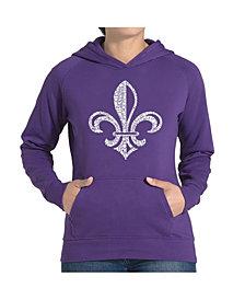 LA Pop Art Women's Word Art Hooded Sweatshirt -Lyrics To When The Saints Go Marching In