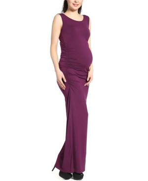 Kimi + Kai Charlotte Tank Column Maternity Dress