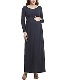 Jackie Maternity Empire Waist Maxi Dress