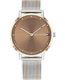 Women's Two-Tone Steel Mesh Bracelet Watch 35mm, Created for Macy's