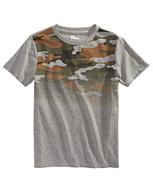 Big Boys Camo Ombré T-Shirt, Created For Macy's