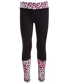 Little Girls Colorblocked Animal-Print Leggings, Created For Macy's