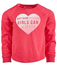 Little Girls Heart-Print T-Shirt, Created For Macy's